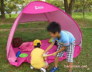 芝生テントの写真