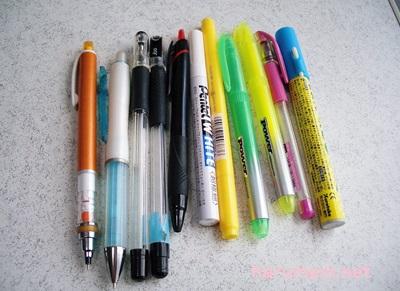 筆記用具 捨てるもの
