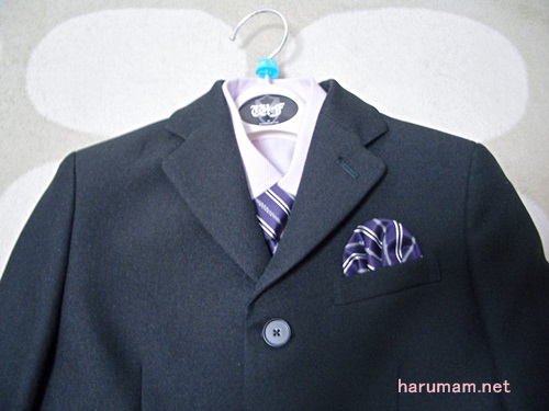 男子スーツ 上半身