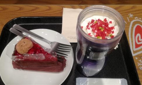 スタバ,キャンディーピスタチオ,ラズベリーチョコパイの写真