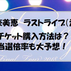 安室奈美恵ラストライブ沖縄のチケット購入方法と当選倍率予想